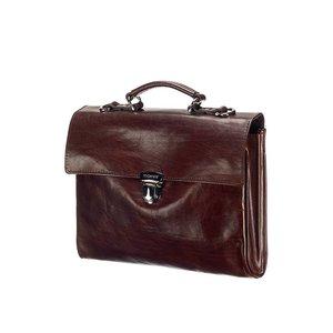 Mutsaers Leather Laptop Bag - The Walker - Dark brown