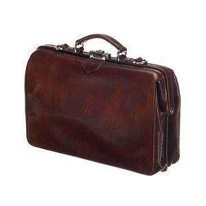 Mutsaers Leather Laptop Bag - The Classic - Dark Brown