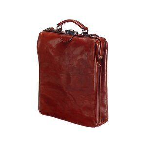 Mutsaers Leather Backpack - On The Bag - Chestnut