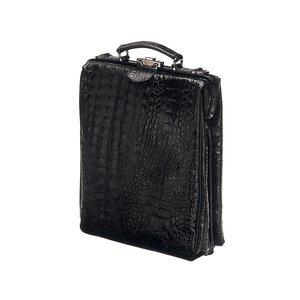 Mutsaers Leren Rugtas - On The Bag - Zwart - Croco