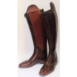 Petrie Polo Boots 25% discount P416-5.5 Petrie Superior Classic in dark cognac croco print  UK size 5.5 51-40 made to measure