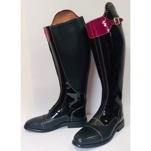 Petrie Polo Boots 25% discount P396-5.0 Petrie Superior black calf leather with patent leather shaft + accessories 5.0 44-44-39.5 custom made