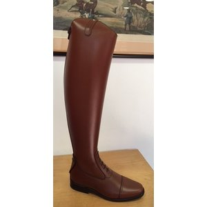 Petrie Jumping Boots (laced) 25% discount J468-6.0 Petrie Coventry cognac rind leather UK size 6.5 54-36-36 custom made