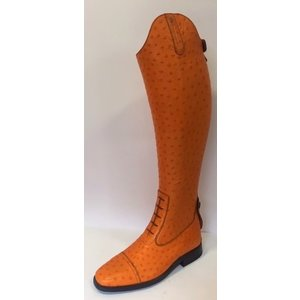 Petrie Jumping Boots (laced) 25% discount J602-6.0 Petrie Aberdeen laced riding boot with elastic section  Oistrich orange size 6.0  47-38 LW