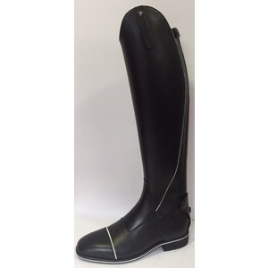 Petrie Zipper Boots (at the back) 25% discount Z603-5.0  Petrie Sportive in black calf leather with white contrast stitching in size 5.0 47-35 XHE