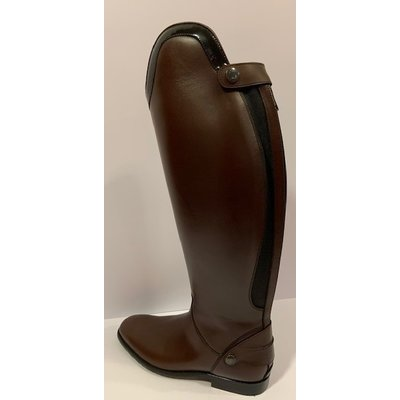 Petrie Zipper Boots (at the back) 25% discount Z600-7.0 Petrie Leeds with elastic section brown rindleather UK7.0 46-43-39 custom