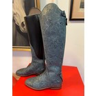 Petrie Jumping Boots (laced) 25% discount J004-7.0  Petrie Coventry grey fantasie  calf leather, UK  7.0  49-35.5-35