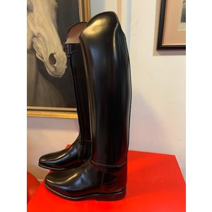 Petrie Dressage Boots 25% Discount D008-8.0  Petrie Anky Elegance in black brushed patent calf leather UK size 8.0 49-36