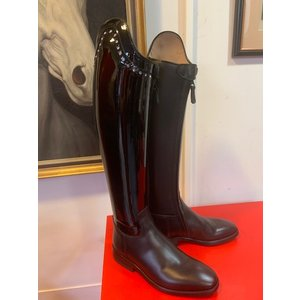 Petrie Dressage Boots 25% Discount D022-3.5 Petrie Sublime Dressage in black + patent shaft + swarowski  3.5 44-30.5-31