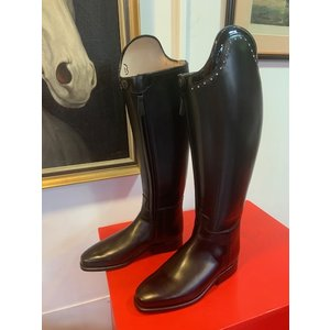 Petrie Dressage Boots 25% Discount D023-5.0  Petrie Anky Elegance in black calf leather+ Swarowski UK size 5.0 43-38.5-37.5