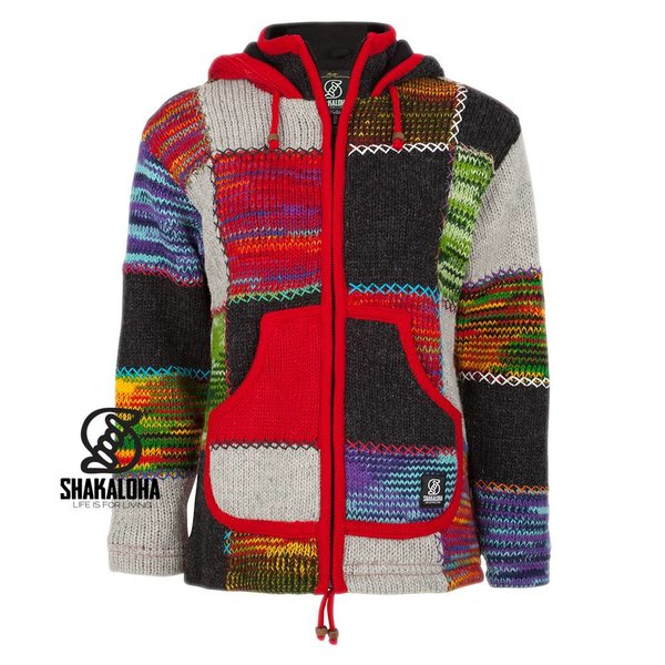 Shakaloha Woman Patchwork NH Multicolor, brightly colored vest with pockets.