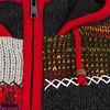 Shakaloha Patchwork NH buntgemusterte Damenstrickjacke mit Kapuze