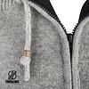 Finn Man Grijs Wollen Vest met filt met afristbare capuchon