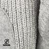 Finn Man Grey Knit Hooded Wool Jacket with fleece lining