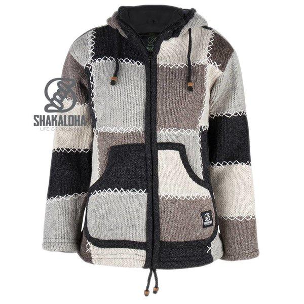 Shakaloha Patchwork Natural fleece gevoerde wollen voor dames