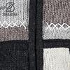 Patchwork Natural fleece gevoerde wollen voor dames