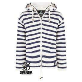 Shakaloha Split Ziphood White Navy