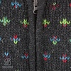 Flake Hood Woman Anthracite Multi Color