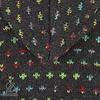 Shakaloha Flaka handgestrickte Damenwolljacke mit Kapuze im ungestÌÎ_men Farbton anthrazit mit bunten Akzenten