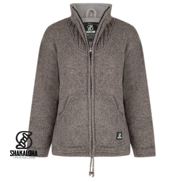 Shakaloha Shakaloha New Harta Light Brown Wool Jacket Fleece Lined