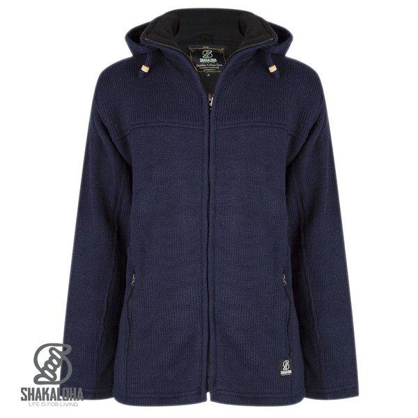 Shakaloha Shakaloha Navigator marinefarbene Wollstrickjacke fÌÎ_r Damen und Herren