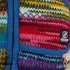 Shakaloha Vintage Patchwork Damenstrickjacke mit Kapuze
