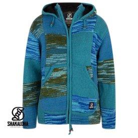 Shakaloha Patchwork Aqua Wool Jacket