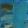 Shakaloha Patchwork Aqua Fleece Lined Wool Jacket with fixed hood and inside collar
