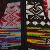 Shakaloha Patchwork Happy Fleurig Gekleurd Gebreid Wollen Vest voor Dames met fleece binnenkant.