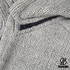 Shakaloha Radical Ziphood graue handgestrickte Wolljacke mit abnehmbarer Kapuze fÌÎ_r Damen und Herren