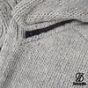 Shakaloha Radical Ziphood Grey Knit Wool Jacket with Fleece Lining