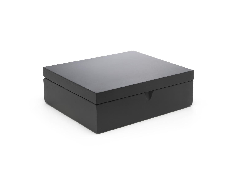 Teebeutelbox (9 Fächer, schwarz)