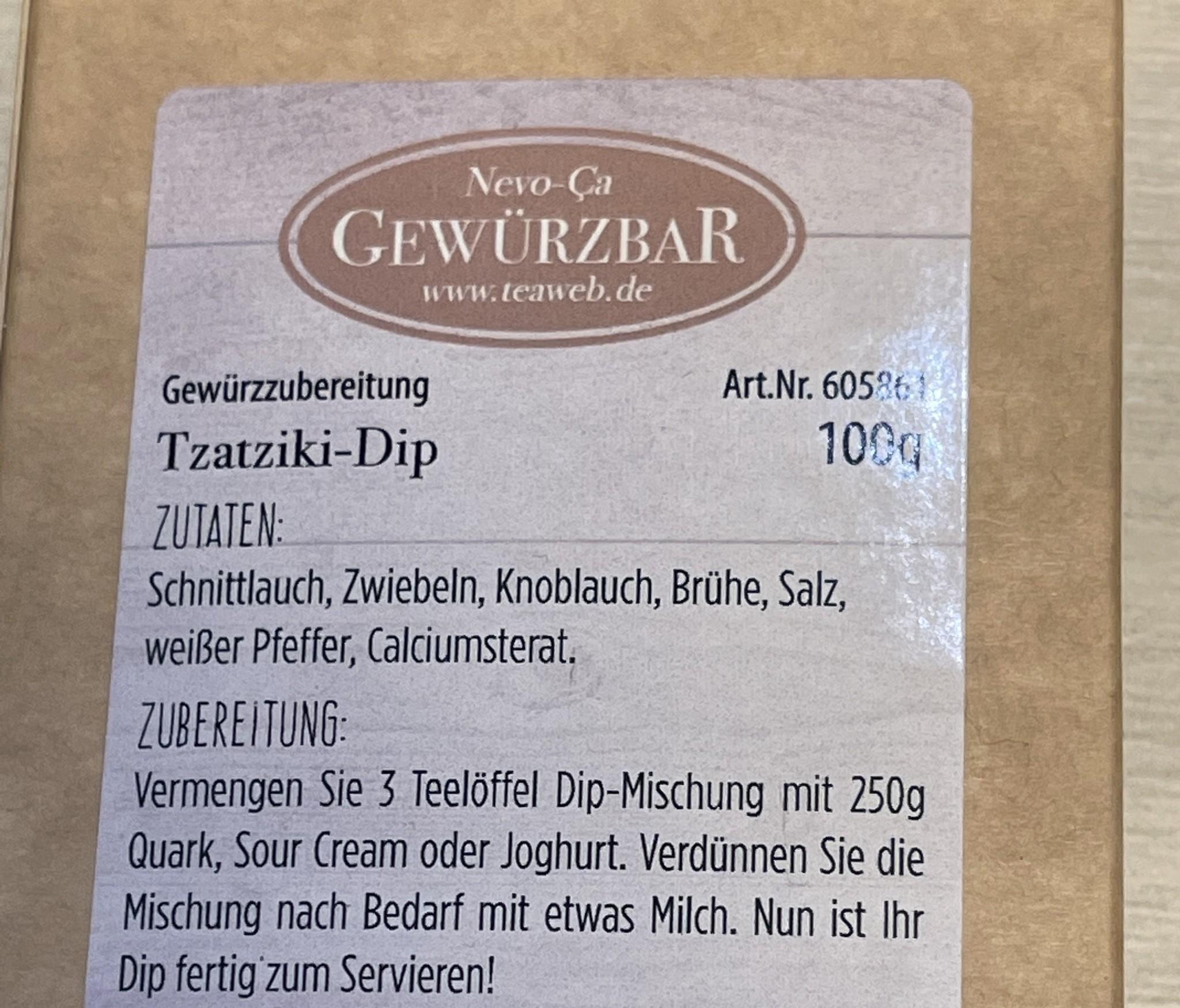 Tzatziki Dip