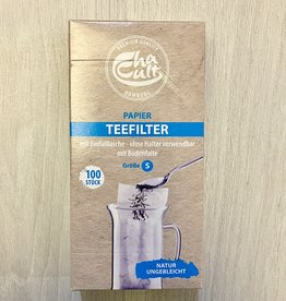 Papier Teefilter mit Einfülllasche S