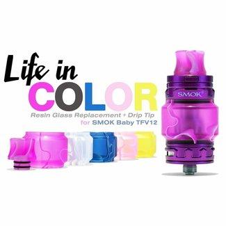 SMOK Acrylic Tube & Drip Tip - TFV12 Prince baby