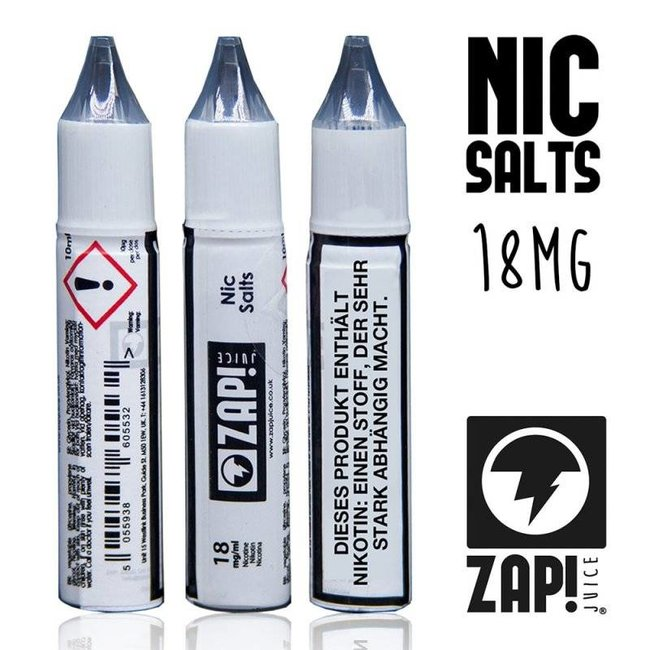 ZAP! ZAP! Juice Nic Salt 18mg 10ml Nikotin Shot