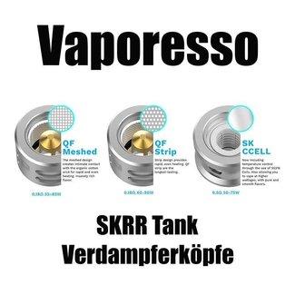Vaporesso  Vaporesso SKRR Tank Verdampferköpfe