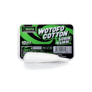 WOTOFO Wotofo Pre-Built Agleted Organic Cotton Wickelwatte