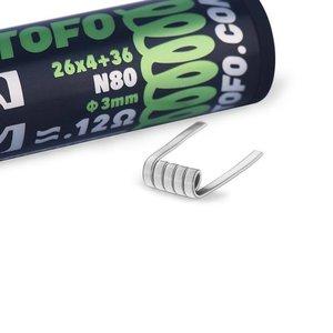 WOTOFO Wotofo Quad Core Fused Clapton Prebuilt Wire 0,12 Ohm 10er Pack Fertigwickelung