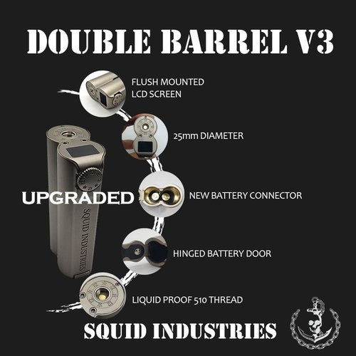 Squid Industries Double barrel V3 150W Mod by Squid Industries