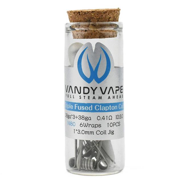 VANDY VAPE Vandy Vape Prebuilt Ni80 Triple Fused Clapton Coils