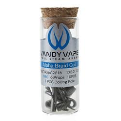 Vandy Vape Prebuilt Ni80 Alpha Braid Coil 10 Stück