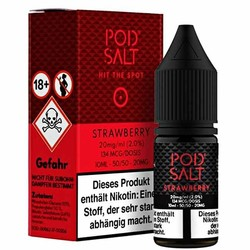 Strawberry 20mg 10ml Liquid by Pod Salt