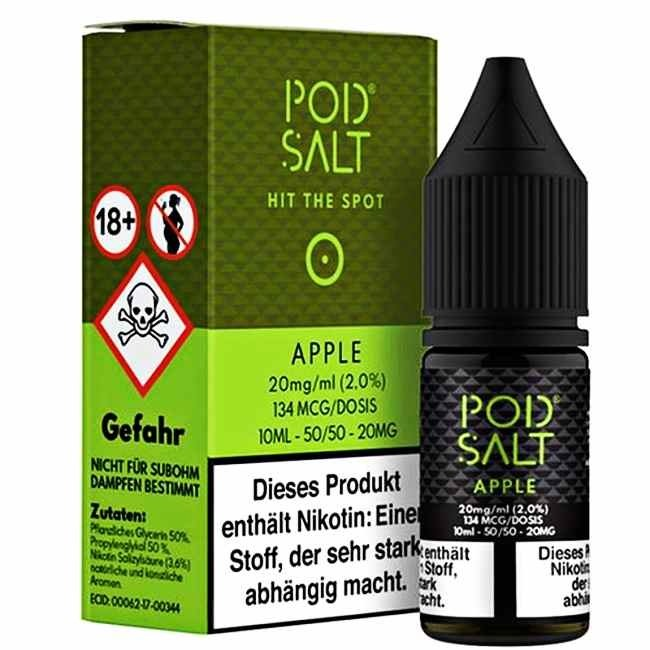 POD SALT Apple 20mg 10ml Liquid by Pod Salt