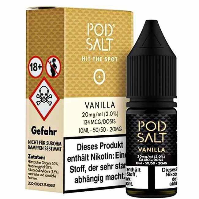 POD SALT Vanilla 20mg 10ml Liquid by Pod Salt