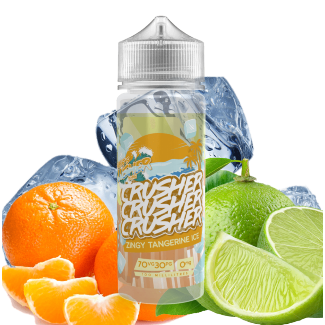 Prohibition Vape Crusher E-Liquid - Zingy Tangerine Ice 100 ml
