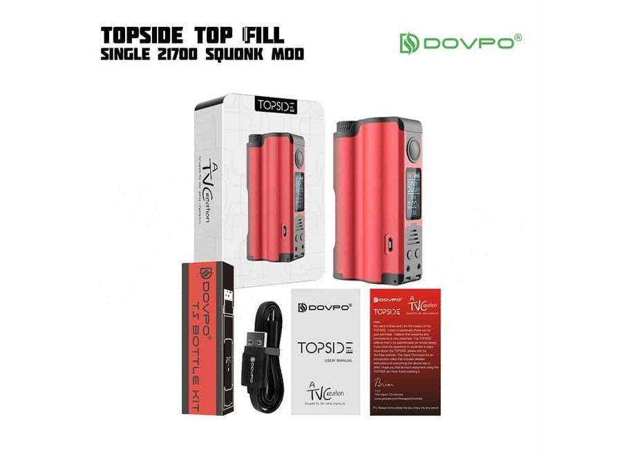 DOVPO Topside Single 21700 Top Fill Squonker Mod Akkuträger