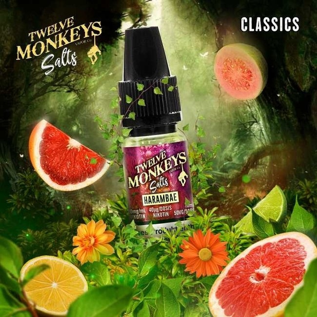 Twelve Monkeys Vapor Co. 12 Monkeys - Harambae 10ml Nic Salt 20mg