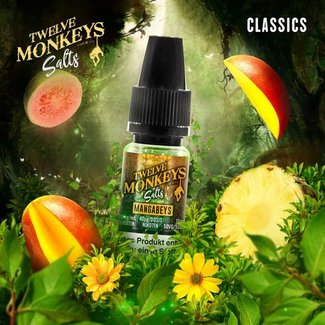 Twelve Monkeys Vapor Co. 12 Monkeys - Mangabeys 10ml Nic Salt 20mg