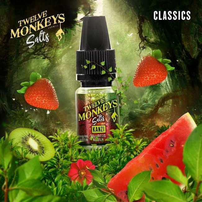 Twelve Monkeys Vapor Co. 12 Monkeys - Kanzi 10ml Nic Salt 20mg
